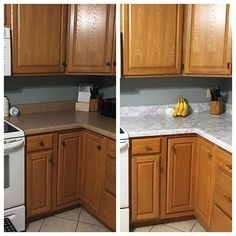 Diy Super Cheap Easy Marble Look Counters Done With