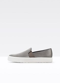 Berlin Pearlized Canvas Sneaker With Leather Trim