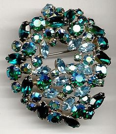 Blue Green Sherman Brooch.