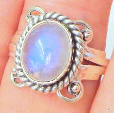 Sz 7 Ring Vintage Moonstone Ring  Sterling Silver by Steampunkitis, $49.00