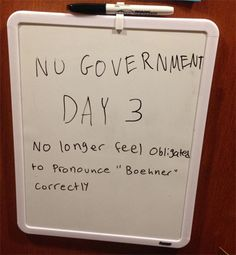 Coping with Government Shutdown