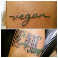 Vegan tattoo , Bar code Jailbreak animals Tattoo.  Artist Victor at http://www.exotictattoopiercing.com/ https://www.facebook.com/Exotic-Tattoos-and-Piercings-418666600080/timeline/ For further inquires contact Victor at exotic@exotictattoopiercing.com