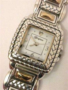 Brighton Tampa Watch Two Toned Gold & Silver Weave W41061 NWTS #Brighton
