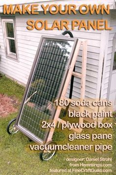 solar panel : make your own #HomeEnergySpaces