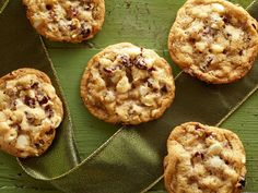 White Chocolate Cranberry Cookies : Trisha's giving chocolate chippers a run for their money in the go-to-cookie department. These simple bites boast white chocolate chips instead of the usual semisweet variety, plus chewy dried cranberries and crunchy macadamia nuts for color and texture.
