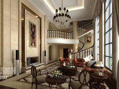 Inspirational Traditional Interior Design Ideas Chinese Hall Design
