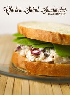 Chicken Salad Sandwiches - I LOVE this version of one of my all-time favorite sandwiches. My alternate title is: Pantry Sandwich!