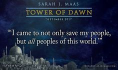 "Chaol in THRONE OF GLASS: ""I'd like to think that if my country was conquered, I would stop at nothing to win back my people's freedom."" And now, Chaol in TOWER OF DAWN!"