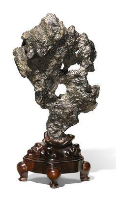 A Chinese Black Lingbi Scholar's Rock