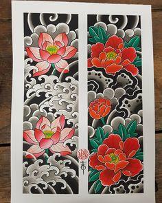 #peonytattoo #lotustattoo #fingerwaves #japanesetattoos #japanesetattooart #japanesetattoos #wabori #japanesetraditional #orientaltattoo… Japanese Snake Tattoo, Japanese Flower Tattoo, Japanese Tattoo Designs, Japanese Sleeve Tattoos, Japanese Flowers, Japanese Art, Tattoo Sketches, Tattoo Drawings, Body Art Tattoos
