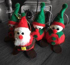 Christmas Santa and elf tree ornaments!
