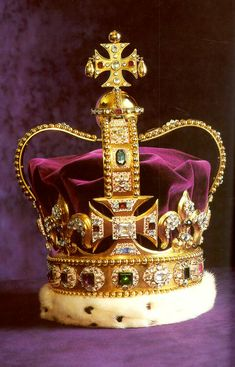 1661 St. Edward's Crown was refurbished for Charles II's coronation from an old crown. The gold may have come from Edward the Confessor's crown.