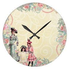 Beautiful Vintage Clock - home decor design art diy cyo custom