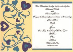Wedding invite sample