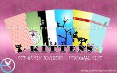 Kittens dividers for filofax and kikki.k on  https://www.etsy.com/it/listing/240263855/personal-dividers-filofax-kikkik-medium