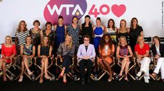 """World #1 Serena Williams leads tributes to Billie Jean King who unified the women's tour  & founded the WTA in 1973. Billie Jean King is the driving force & first president of the association. SERENA: """"Billie Jean has been my ultimate inspiration & taught me so many things about being a champion & staying a champion...We are celebrating 40 amazing years of the WTA & none of this would have been possible if she hadn't taken a stand for everyone."""""""