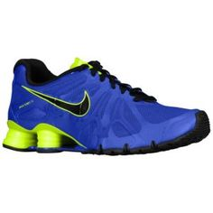 nike shox black and blue
