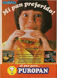 Puropan Bread. Ad from 1980s.