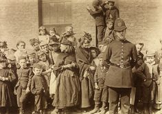 Bodybuilders and angels: The Crowd Waiting to See a Policeman's Funeral, Lambeth, 1892, by Paul Martin Martin was a pioneer in the use of the hidden camera. He carried a spy camera, wrapped in brown paper, that was tucked under his arm and disguised as a parcel