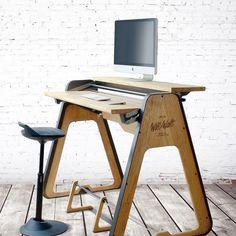 plywood furniture 47 Adorable Plywood Desk Design Ideas For Home Office Plywood Desk, Plywood Furniture, Cheap Furniture, Industrial Furniture, Furniture Making, Furniture Design, Discount Furniture, Diy Standing Desk, Office Interiors