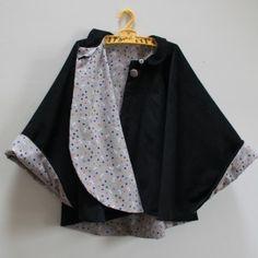 Cape en doublure Candy Flakes par ByPaulette - Vanessa Pouzet pattern                                                                                                                                                                                 Plus