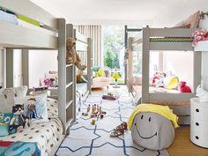 Dormitorio para 4 hermanos / Cómo sacar partido a un cuarto infantil pequeño #hogarhabitissimo