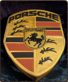 Porsche grooms cake! But in stead of porsche i would want it to say JEEP!