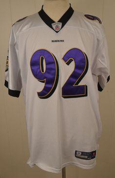 Reebok Onfield Baltimore Ravens Jersey  92 Haloti Ngata NFL Size 54 White  Sewn  Reebok c54b2f515