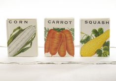 Make your own mini books from vintage seed packets with this tutorial. #Etsy