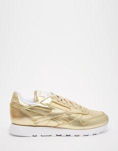 Reebok   Reebok Classic Gold Leather Spirit Sneakers at ASOS