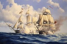 The 44 gun American frigate Constitution captained by Isaac Hull met up with the 38 gun British frigate Guerrière of Captain Dawes in August 1812. After a fierce battle Dawes was forced to surrender having become totally dismasted. Hull would not accept Dawes' sword, but took his hat instead!