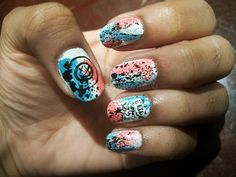 Blink 182 Nails... Ive gotta try this!