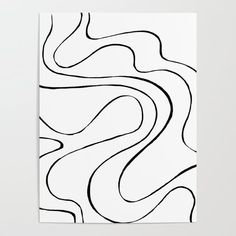 Ebb and Flow 2 - Black and White Poster by laec | Society6