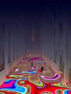 Miguel Chevalier - Magic Carpet, 2014