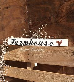 Farmhouse wooden sign. Rustic signs. Farm signs. by StarrEvents