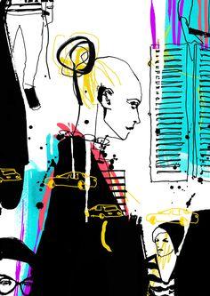 Fashion illustration by Cecilia Lundgren #fashion #illustration #TrafficNYC