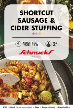 A few easy upgrades elevate this boxed stuffing from ordinary to extraordinary. 30 Minutes Or Less, Stuffing, New Recipes, Cooking Tips, Sausage, Side Dishes, Bucket, Thanksgiving, Yummy Food