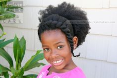 Chunky Flat Twist Bangs and Afro Puff Using the PuffCuff Hair Clamp | Chocolate Hair / Vanilla Care