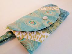 woman wallet and wristlet unique cotton woman by CountingTreasures