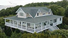 6249 Pebble Shore Ln Southport, NC 28461 - overhead view Emily Thorne's beach house Hamptons Revenge