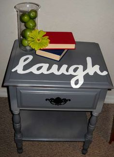 Side table re-do.. this is awesome, I love it!
