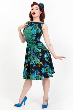Heart of Haute Monique Dress - Peacock Royale