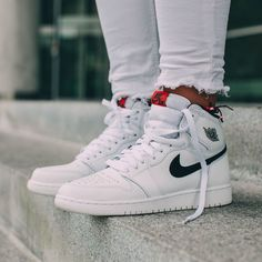 8cf7d1a783e5 NIKE Women s Shoes - NIKE Air Jordan 1 Retro High OG White x Black x Touch  of Red - Find deals and best selling products for Nike Shoes for Women