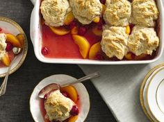 Peach and Raspberry Cobbler... this just sounds yummy!