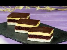 """Kókuszos torta - Házi süti """"Velencei álom szelet"""" – könnyen készíthető és finom.   Ízletes TV - YouTube"""