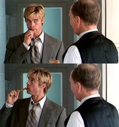 "whenever I eat peanut butter (which is often), I think of Brad Pitt *smile* in ""Meet Joe Black"""