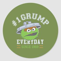 Oscar The Grouch, Make Your Own, Make It Yourself, Round Stickers, Custom Stickers, Activities For Kids, Numbers, Scrapbook, Classic