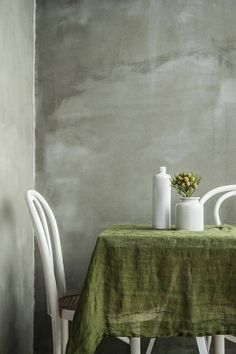 Green Linen Muslin Tablecloth. Soft Moss Green Handmade Linen Tablecloth.  Our Tablecloths Are Made Of Linen Muslin. Very Light And Transparent Fabric.