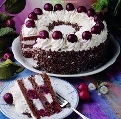 Fekete-erdei meggytorta - készítette Czermann János mestercukrász Torte Cake, Cold Desserts, Hungarian Recipes, Occasion Cakes, Cake Cookies, Sweet Recipes, Cookie Recipes, Cake Decorating, Bakery