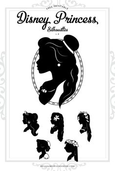 FREE Disney Princess Silhouettes v.4 - Designs By Miss Mandee. 6 beautiful silhouettes of Disney heroines. See Belle, Elena, Moana, Giselle, Wendy, and Lilo all in this new set of designs. Download the pdf printable and SVG cut files for FREE! #Disney #DisneyPrincess #DisneyPrincesses #Belle #BeautyandtheBeast #ElenaofAvalor #Enchanted #Moana #PeterPan #Wendy #Lilo #LiloandStitch #Cricut